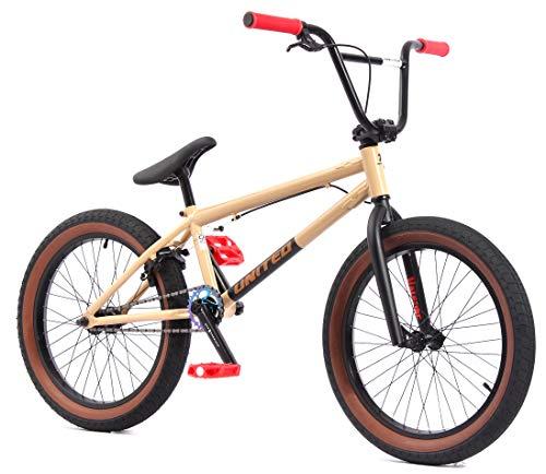 KHE Bicicletta BMX VALBORG beige marrone chiaro 20 pollici Affix brevettato 360° solo 12,2 kg!