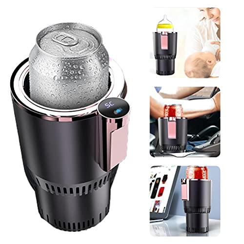 Doherty Calentador de vasos de coche 2 en 1 portátil inteligente auto puede taza de refrigeración y calefacción portátil para coche, soporte de bebidas para agua, café, bebidas y leche