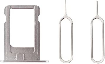 Sim Card Tray Holder + 2 Eject Pins for iPhone 5S Silver