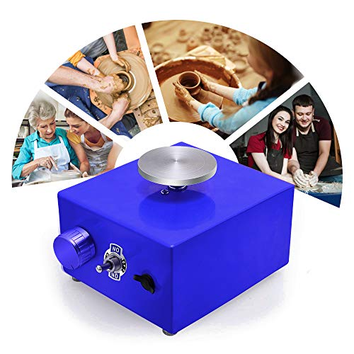 PaNt Ruota per Ceramica elettrica 6.5cm 10cm Giradischi Mini Macchina per Ceramica Ruota...