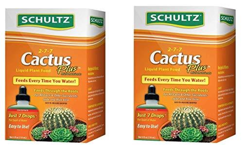 Schultz Cactus Plus 2-7-7 liquid Plant Food, 4-Ounce (2-Pack)