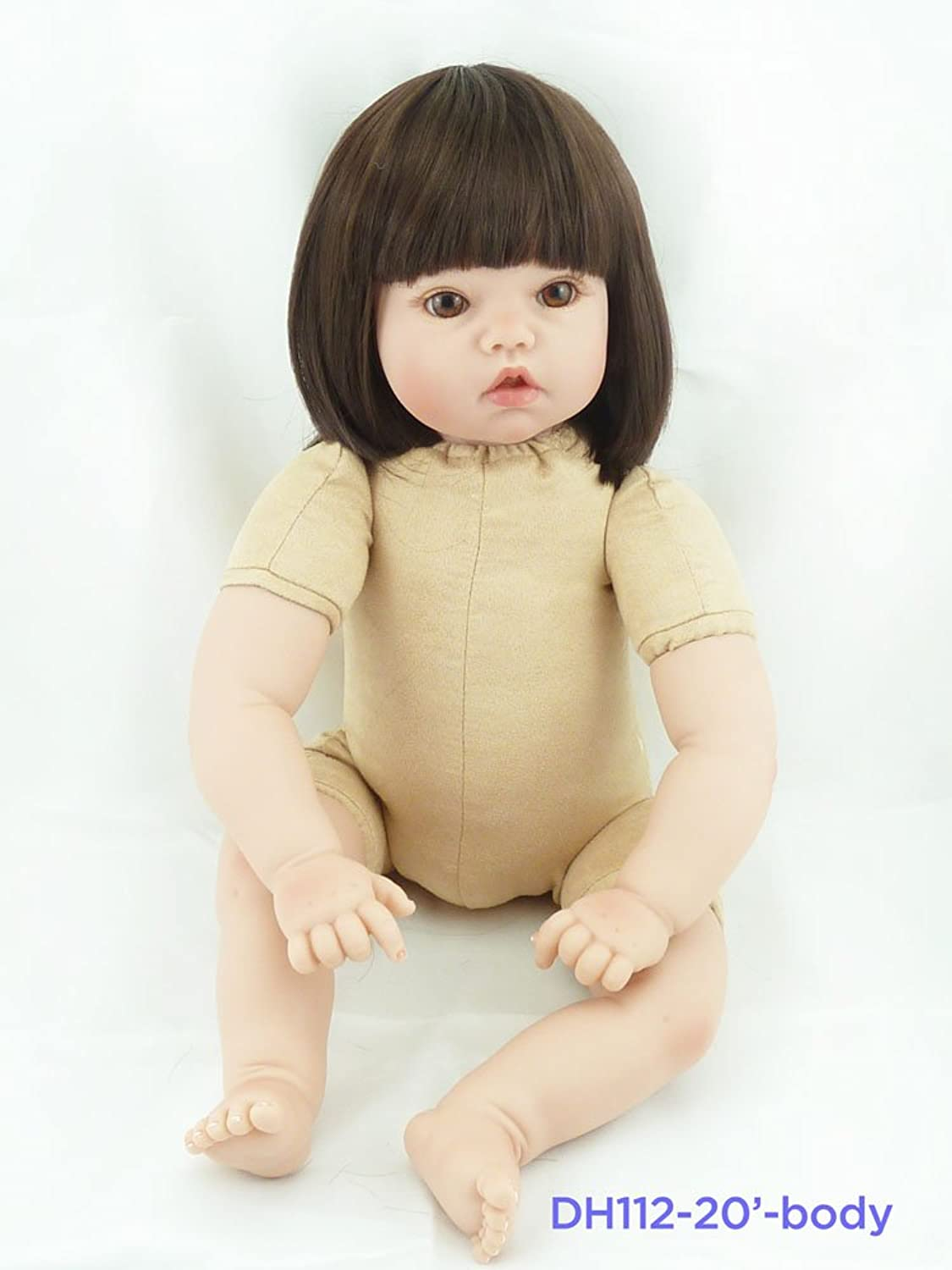 Pinky 2022 Inch Handmade Soft Body Silicone Babies Reborn Baby Doll Alive Real Life Like Looking Newborn Dolls Girl Toy Body (DH112body20 )