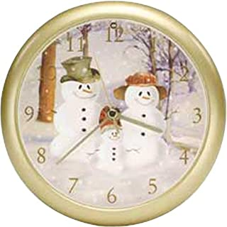 Snow Family Musical Christmas Carol Sound Clock - 8