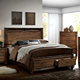 Elkton Traditional Oak Finish King Size 6-Piece Bedroom Set