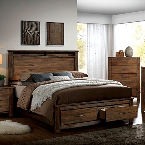 Elkton Traditional Oak Finish King Size 6-Piece Bedroom Set