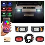 10L0L Golf Cart Deluxe LED Light Kit with Daytime Running Light Turn Signal Function Fits for Club Car DS with Headlight Taillight Brake Light Horn Turn Signal Assembly Upgrade Replacement