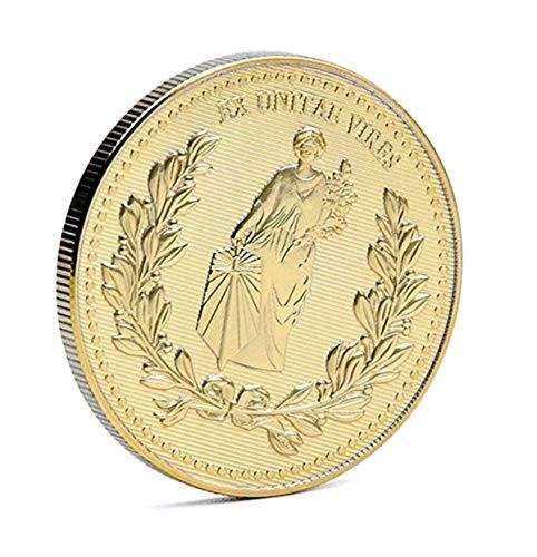 Mesky EU John Moneda Retro Gold Coin con Caja para Regalo Colección Props Ropa Accesorios Zinc para Fans