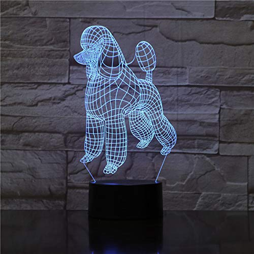 EinsLinie Vip Hund Nachtlicht 3D Illusion Nachtlampe 16 Farben Acry Panel LED Geschenk Remote switch Touch-Schalter beste Geschenk Ferienhaus Dekoration