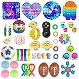 CaCaCook Fidget Toys Pack Barato, 43 Piezas Juguetes Sensoriales, Juguetes AntiestréS Pack, Fidget Alivia EstréS Y La Ansiedad Toy, Juguetes para Aliviar El EstréS De La Mano para NiñOs Adultos