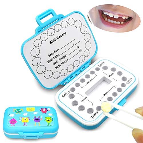 Ourine Aufbewahrungsbox für Babyzähnchen, für Zahnaufbewahrung violett