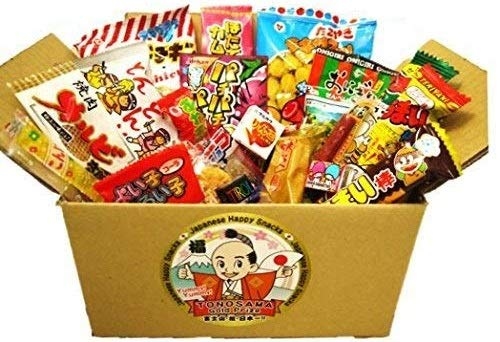 "Japanese candy assortment 22pcs , full of dagashi. ""TONOSAMA CANDY"""