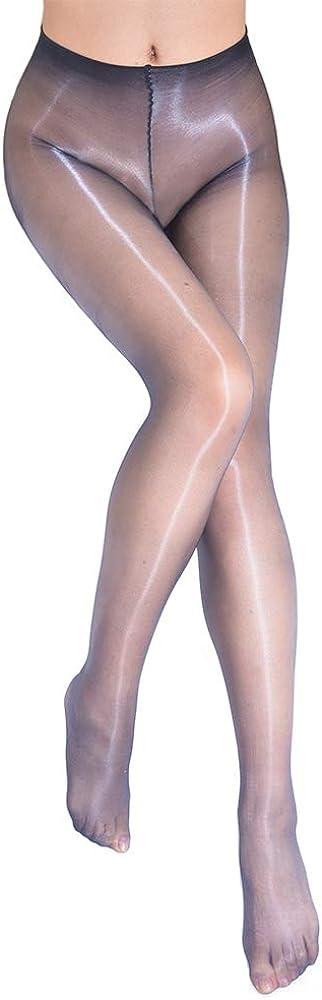 Women's Oily Pantyhose 0D Ultra-thin Shiny Sheer Tight Gloss Seamless No Side Stockings