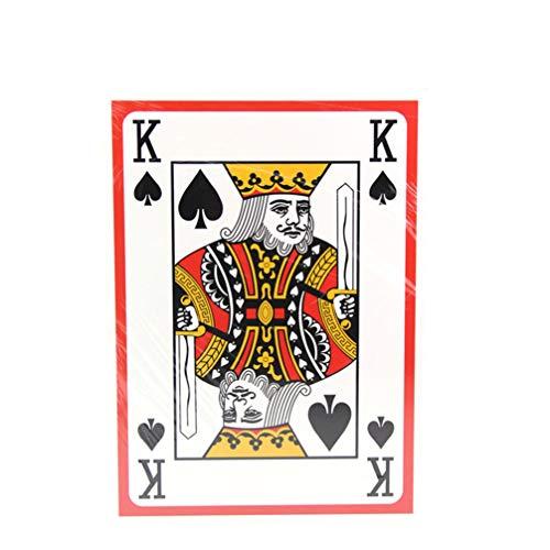 Baralho gigante Besportble, cartas de pôquer jumbo, 9 vezes maiores, conjunto de cartas de pôquer para festa em casa, reuniões de família, tamanho A4