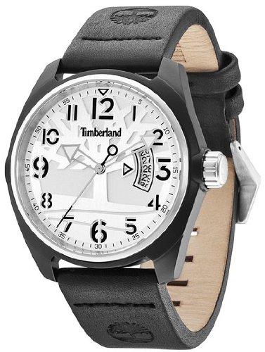 Timberland sherington Reloj para Unisex Analógico de Cuarzo con Brazalete de Piel de Vaca 13679JLBS-04