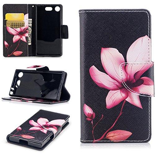 Sony Xperia XZ1 Compact Hülle, SATURCASE Schönes PU Lederhülle Magnetverschluss Flip Brieftasche Handy Tasche Schutzhülle Handyhülle Hülle mit Standfunktion für Sony Xperia XZ1 Compact (Muster-20)