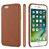 iPhone 6 Case iPhone 6s Case Rejazz Anti-Scratch iPhone 6 Cover iPhone 6s Cover Genuine Leather Apple iPhone Cases for iPhone 6/6s (4.7 Inch)(Brown)
