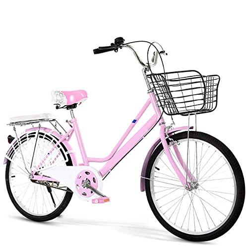 HUAQINEI Bike Bicicletas para Hombres y Mujeres, Bicicletas Ligeras para Estudiantes, Bicicletas para Adultos, Azul