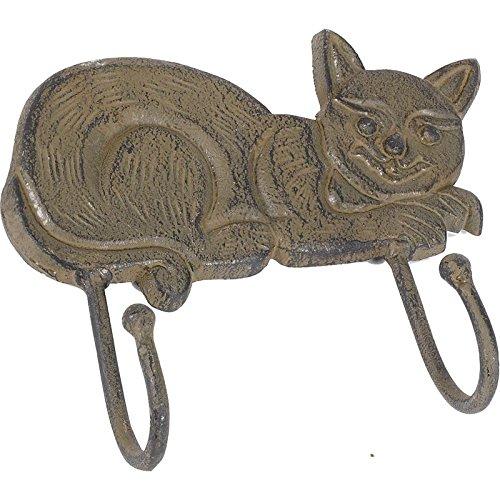 AUBRY GASPARD Patère Chat en métal Vieilli