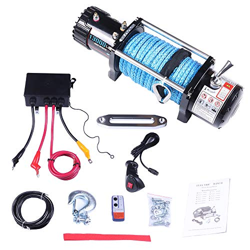 Learn More About LUJUNTEC 12V 13000LBS Electric Winch Towing Truck Winches with Steel Rope,Aluminum ...
