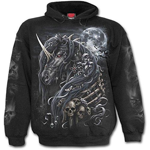 sweat-shirt avec capuche pour hommes - DARK UNICORN - SPIRAL - L038M451 XL