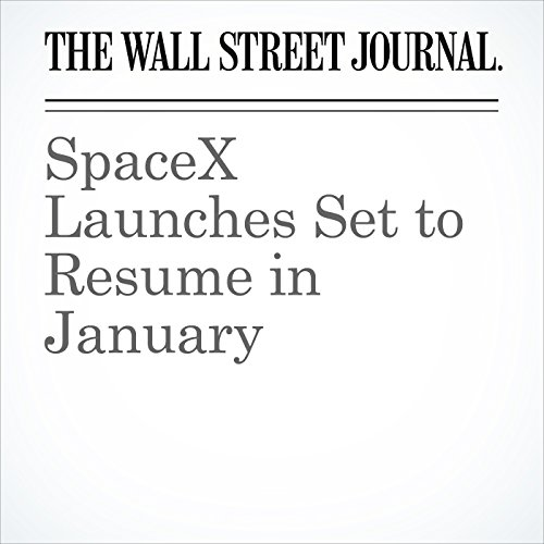 SpaceX Launches Set to Resume in January copertina