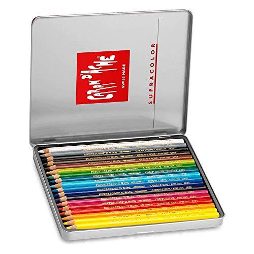 Caran d-Ache SUPRACOLOR Soft Aquarelle 18 - Lápiz de color (Multicolor, Rojo)