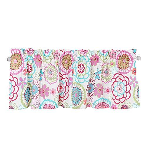 Cozy Line Home Fashions Pink Mariah Flower Girl Window Valance, 54' X 15' (Mariah)