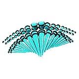 IPOTCH 36x Túnel de Oídos Tapones Perforación Piercing Dilatador de Acrílico para Orejas - Cielo Azul