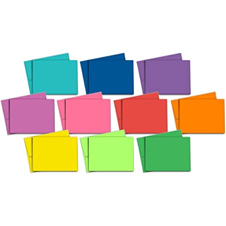 Note Card Cafe Blank Greeting Cards   40-Pack   Multi-Color Pack 10 Different Vibrant Colors with Matching Envelopes Included   Perfect to Write, Print, or Embellish