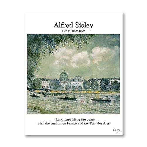 Alfred Sisley, pintura clásica, arte de pared retro, impresión, arte renacentista, lienzo, póster, sala de estar, decoración del hogar, lienzo sin marco, pintura K 30x45cm