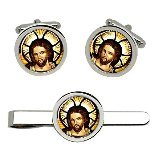 Giftshop UK Icon von Christ Manschettenknöpfe und Krawatte Clip Set