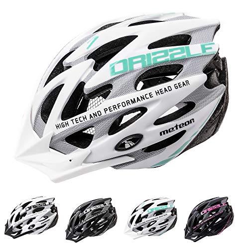 meteor Casco Bicicleta Helmet Bici Ciclismo para Jóvenes y Adulto Bicicleta Patineta Skate Patines Monopatines - Bici Accesorios - El diseño Ligero - Muchos Patrones - Drizzle
