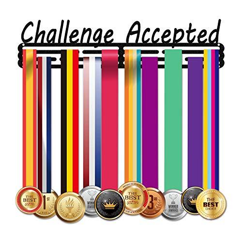 Lapetale Fashion 202020UPGRADED Medaillenhalter für 40 Medaillen Anwendung für alle Sportarten, schwarzer Stahl Medaillenhalter, Halterung für Rennmedaillen, Medaillen-Halter