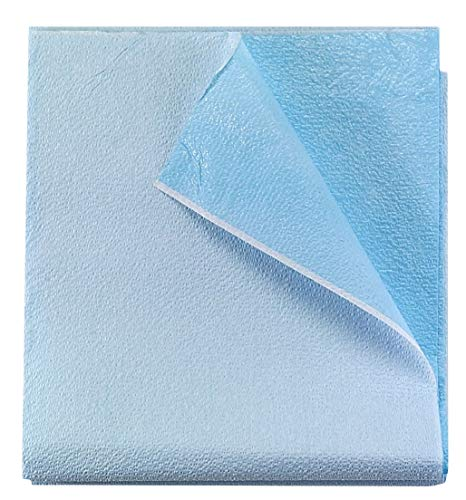 AMZ Disposable Stretcher Sheets 40 X 90. Pack of 50 Disposable Bed Sheets 40x90 Bed Covers Tissue/Poly Table Sheets for Hospitals, Salons, Spa Clubs, Massage Clubs, Tattoo.