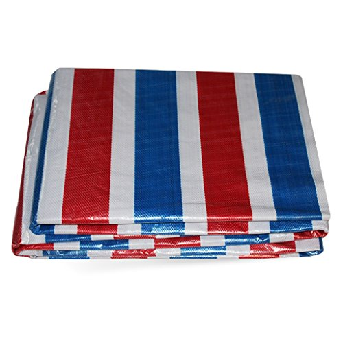 HAIPENG Color Stripes Tarpaulin Rain Cloth Waterproof Cloth Windbreak Cloth Plastic Shade Cloth (Size : 4m x 8m)