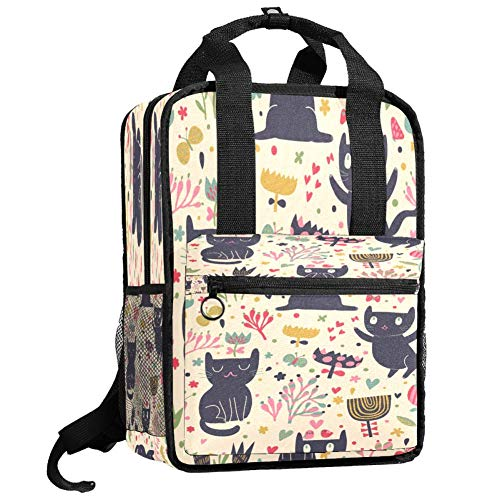 Backpacks Shoulders Bag cats meow Backpack traveling middle school high school