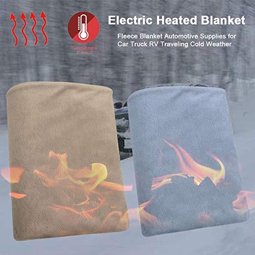 QGPWHLS 2 Pack 24 V elektrische verwarming deken fleece deken Automotive Supplies voor auto vrachtwagen RV reizen koud weer 80X140 cm grote grootte
