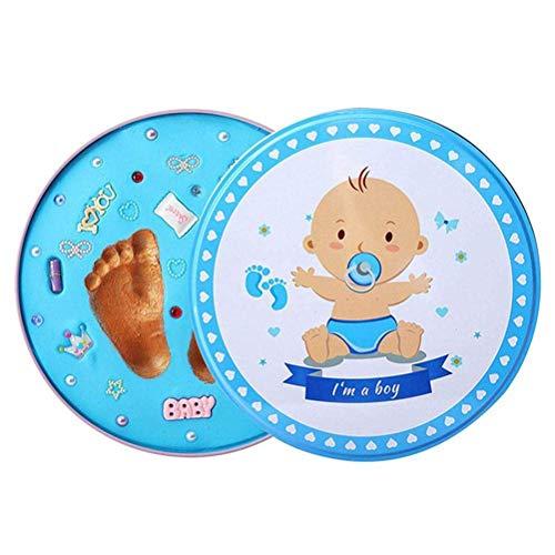 MISS KANG Kit de impresión de Huellas de Huellas de bebé, Baby Huella de Mano Lodo y Huella bebé Recuerdos bebé Mano y pies Cientos días Regalo Qingchunw