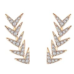"""This geometric crawler is 0.85"""" long and will add a strong statement to any look! Wear these Cuff Earring Jackets day or night, dressed up or with jeans, it's the perfect accessory! This beautiful ear crawler is crafted with a 925 Sterling Silver pos..."""
