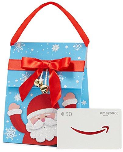 Amazon.de Geschenkkarte in Geschenktasche - 30 EUR (Weihnachtsmann) (Geschenkkar...