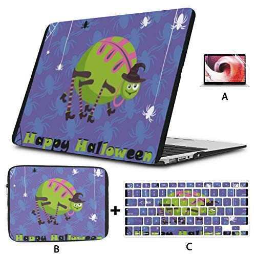 MacBook Pro Case Greeting Cute Halloween Spider Compatible with 13' Old Pro CD Drive 2008-2012 Version A1278 Plastic Case Shell Case&Sleeve Bag&Keyboard Skin&Screen Protector