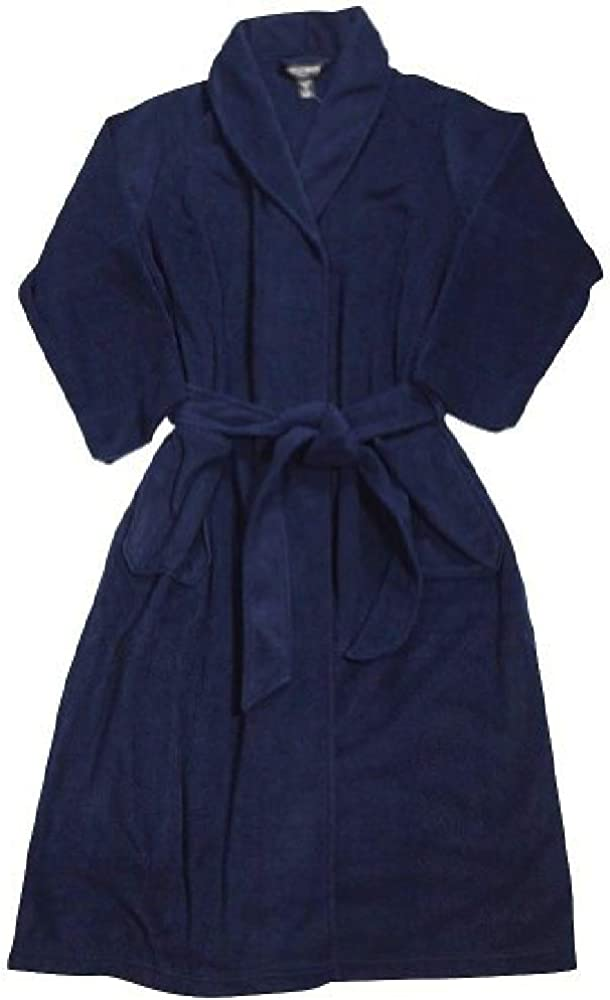 STATE O MAINE Fleece Velour Kimono Robe