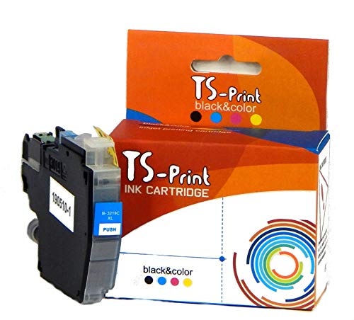 TS-Print Cartucho de Tinta LC3219XL Cyan Compatible para Brother LC-3219 XL Azul MFC-J5330DW MFC-J5730DW MFC-J5830DW MFC-J5930DW MFC-J6530DW MFC-J6730DW MFC-J6930DW MFC-J6935DW