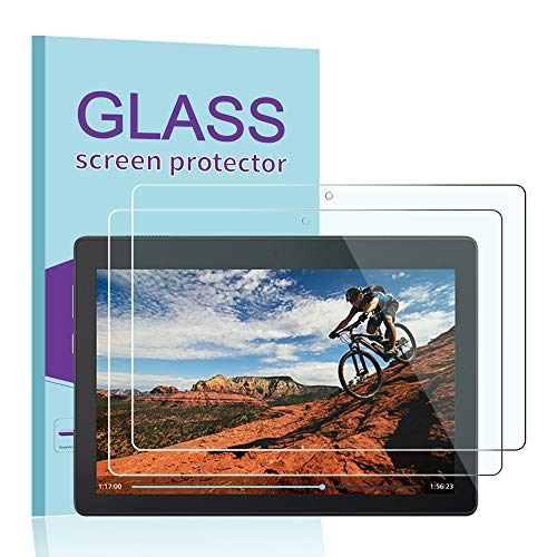 JBAO [2-Pack] Direct for Lenovo TAB E10 (TB-X104F) Screen Protector, [Scratch Resistant][Anti-Fingerprint][Bubble Free][Ultra Clear] 9H Hardness Tempered Glass for Lenovo TAB E10