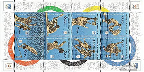 Prophila Collection Kroatien Z42-Z49 Kleinbogen III (kompl.Ausg.) 1994 Olymp. Komitee (Briefmarken für Sammler) Basketball/Volleyball/Handball