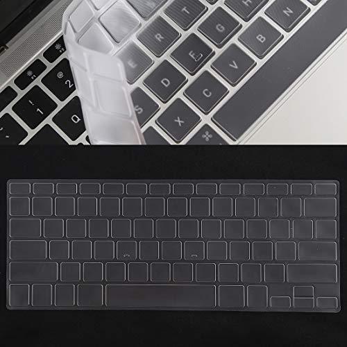 YCZLZ Laptop Keyboard Cover Beschermende Film Bieden uitgebreide bescherming Toetsenbord Beschermer Silica Gel Film voor MacBook Pro 13/15 & Air 13 (A1466 / A1502 / A12780 / A1286)(Zwart)