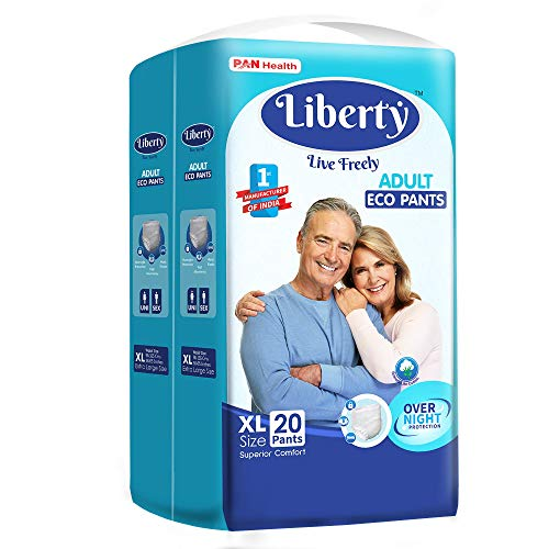 Liberty Eco Adult Diaper Pants, Medium 20's Pack (61-115 Cms | 24-45Inches)