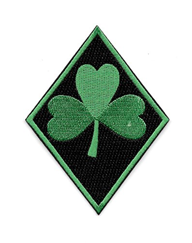Celtic Green Clover Shamrock Irish Biker MC Diamond Motorcycle Patch