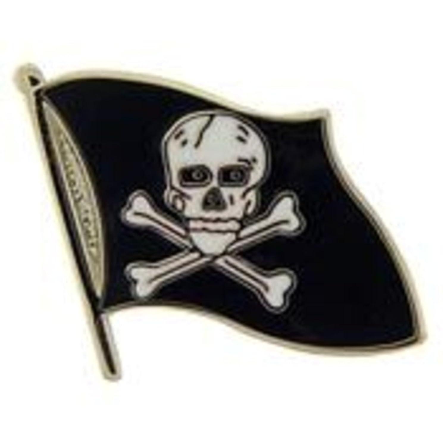 EagleEmblems P03675 PIN-Pirate,Skull & Bones- Flag (1.5'')