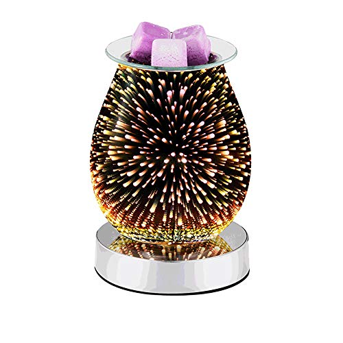 AOZBZ Wax Melts Candle Warmer 3D Glass Electric Wax Melt Warmer Wax Burner Melter for Gifts&Decor, Home, Office, Bedroom Living (B)